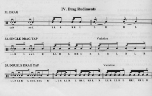 PAS Rudiments 31, 32 and 33