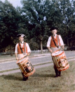 "Battista with Charles ""Buck"" Soistman, Williamsburg, VA., 1962"
