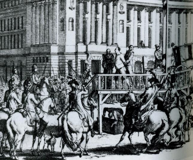 """Louis XVI at """"Madame Guillotine"""", January 20. 1793."""