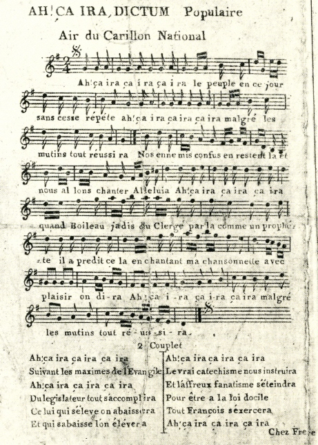 Ah! Ca Ira, the revolution's most famous song-first edition, Paris, 1792.