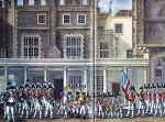 British Band in the courtyard of St James Palace-c1790.