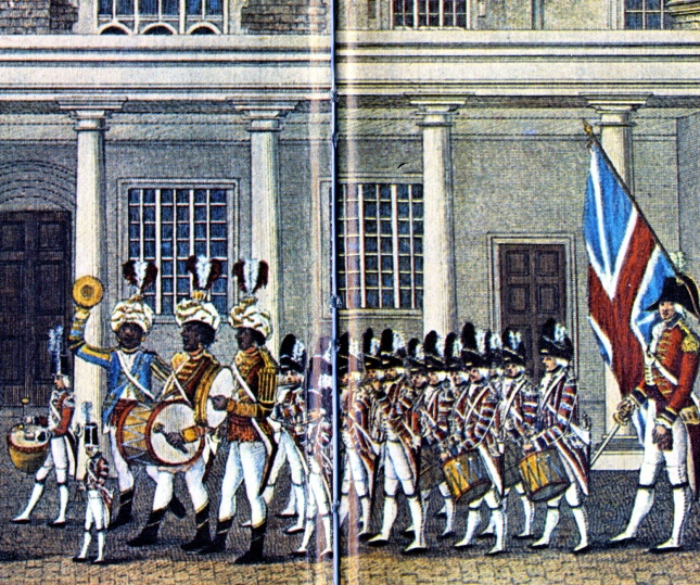 Janissary Component leading Fifes and Drums-detail.