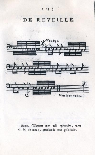 De Reveille-Dutch, 1809.