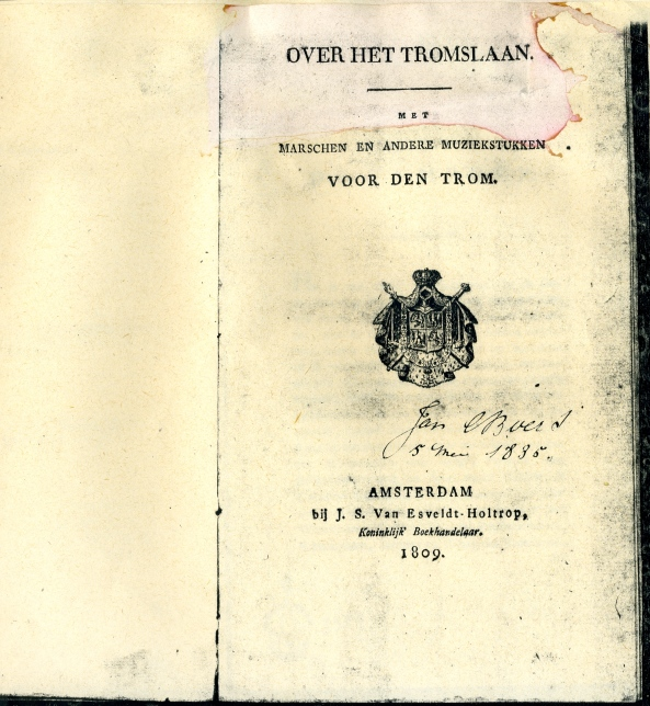 Over Het Tromslaan, Dutch, Amsterdam-1809. collection, R.E.