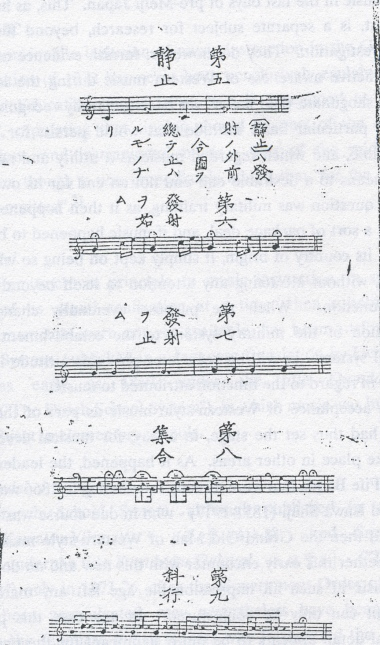"Japanese trumpet signals for troop motions, ""Eikoku hohei renpo"": 1865."