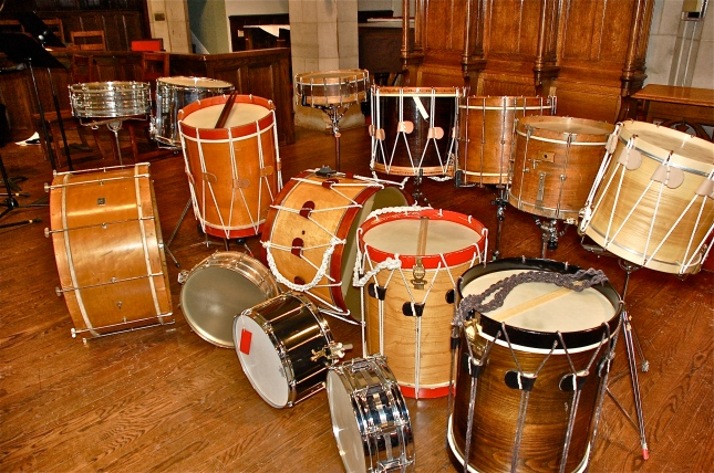 Drums used on the recording sessions.