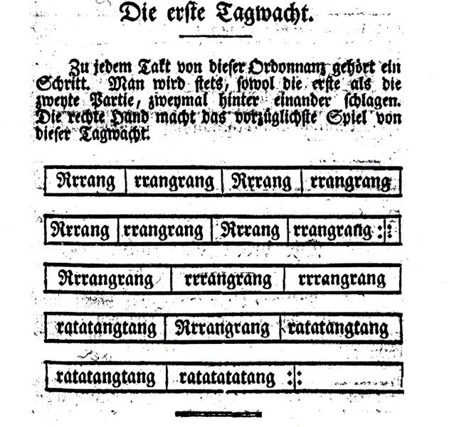1788-Swiss notation, Reveille.