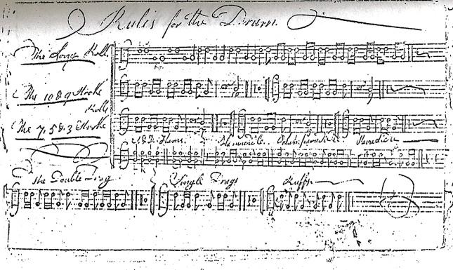1797-Benjamin Clark drum book.