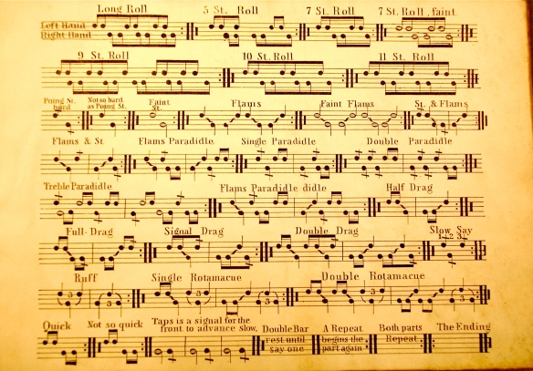 Examples of Snare Drum Notation, Part 3: 1853 to 1869