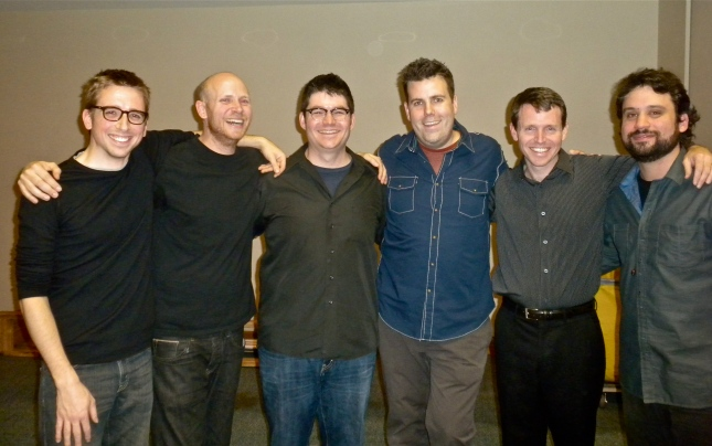 from L. to R. Eric Beach, Jason Treuting, Josh Quillen, Doug Perkins, Todd Meehan, Adam Sliwinski