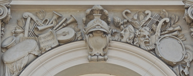 Frieze over a window in  King Ludwig II  (1845-86) ersatz Versailles, Herrenchiemsee on Lake Chiemsee, Bavaria, begun in 1873.