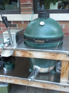 The Green Egg. w: Fan at base.