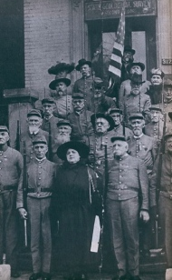 Carrie McGavock with Company C 1st Tennessee, ca. 1902.