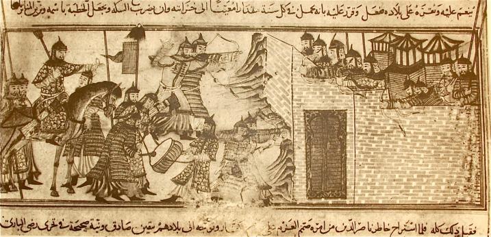 1000(ca.)-Mahmud-in Mongol dress-Conquers Quasdar in India.