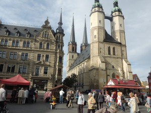 The Halle Market and Martkirche.