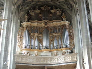 The Martkirche organ today.