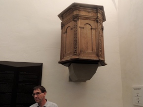 The pulpit from which Martin Luther last preached, 1546.
