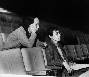 Takemitsu seated behind Jo Kondo in Toronto, 1982