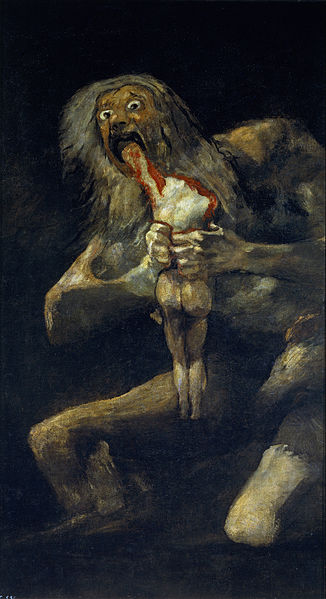 Saturn Devouring His Son; Francisco Goya, 1819-23.