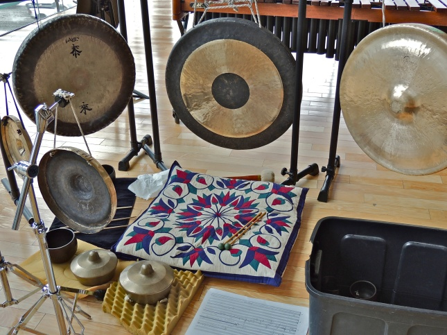 Percussion instruments for Bryce.