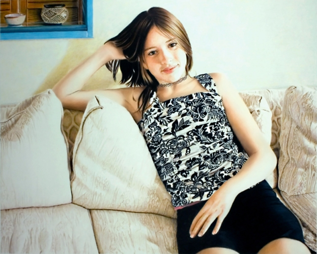 Lucie Quinlan, coloured pencil, Bonnie Sheckter, 2010.