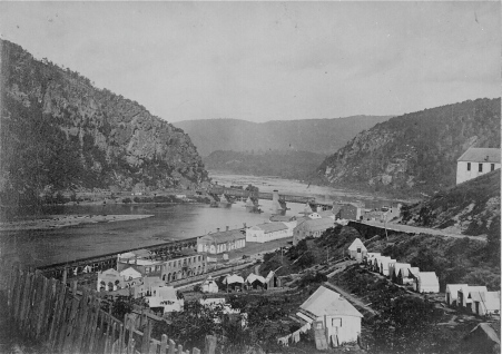 Harper's Ferry during the Civil War.  Without  the army tents, it appears as my friends and I found it in 1957.