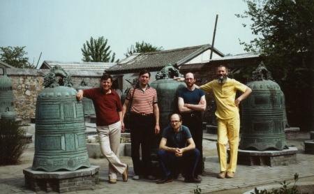 Garden of Bells, Beijing. l to r: Robin, Bill, Russell, Bob and John.