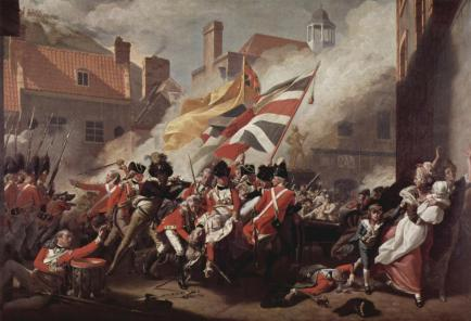 The Death of Major Peirson, in the Battle of Jersey in 1781, by John Singleton Copely, 1782-84.