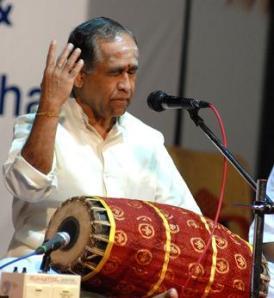 Mridangam master Trichy Sankaran.