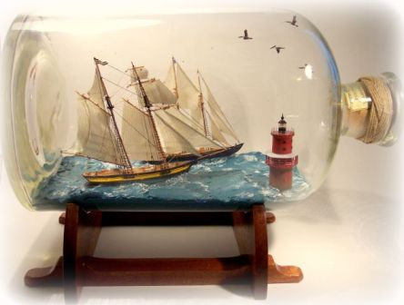 Chesapeake Bay Schooners in a bottle