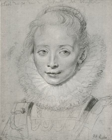 Rubens-Lady in waiting to the infanta Isabela. Crayon & red chalk.