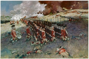 Battle of Bunker Hill, Howard Pyle, 1889.
