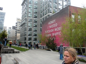 Vire from New Yorl City's High Line.
