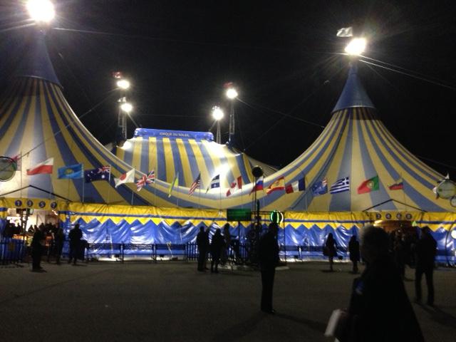 Cirque du Soleil, the main tent.