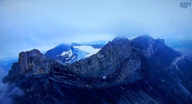 An Alpine scene near Saint-Jean-de-Maurienne, France.